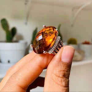 ✨David Yurman Large Oval Citrine Wheaton Ring